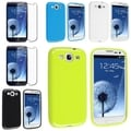 BasAcc Blue/ Green TPU Cases/ Screen Protector for Samsung Galaxy S3