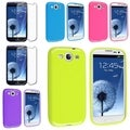 BasAcc Pink/ Purple TPU Cases/ Screen Protector for Samsung� Galaxy S3