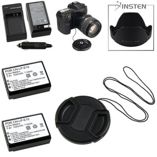BasAcc Lens Hood/ Cap/ Holder/ Battery/ Charger for Canon EOS 1100D