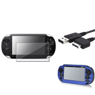 INSTEN Aluminum Case Cover/ USB Cable/ Protector for Sony Playstation Vita