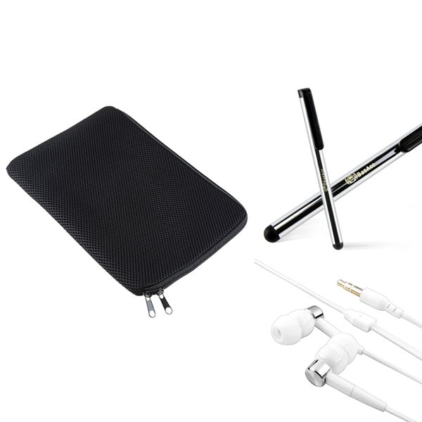 INSTEN Black Sleeve/ Silver Stylus/ Headset for Apple iPad 2