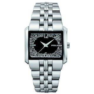 Police Women's Stainless Steel Black Dial Quartz Watch