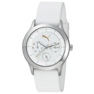 Puma Limited Edition Women's Motor White Polyurethane and White Dial Quartz Watch