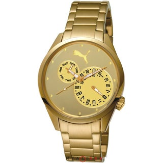 Puma Women's Motor Gold Stainless Steel and Gold Dial Quartz Watch