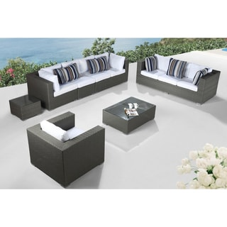Modern Outdoor Furniture Maestro Grey Wicker Lounge Set