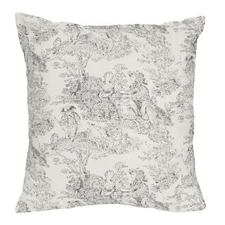 French Toile Decorative Accent Throw Pillow