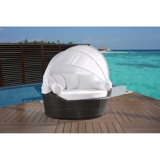Outdoor Palermo Wicker Patio Canopy Daybed