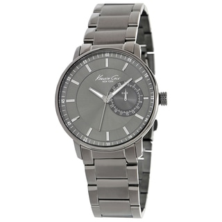 Kenneth Cole Men's Classics Gunmetal Stainless Steel Black Dial Watch