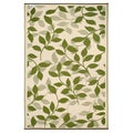Prater Mills Indoor/ Outdoor Reversible Forest Green/ Cream Rug