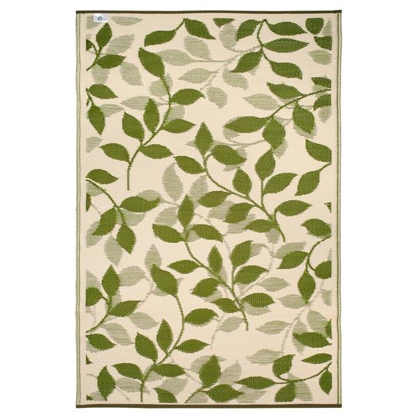 Prater Mills Indoor/ Outdoor Reversible Forest Green/ Cream Rug