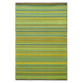 Prater Mills Indoor/Outdoor Reversible Yellow/ Green Rug