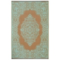 Prater Mills Indoor/ Outdoor Reversible Aqua/ Taupe Rug
