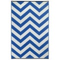 Prater Mills Indoor/ Outdoor Reversible Regatta Blue/ White Rug