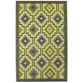 Prater Mills Indoor/Outdoor Yellow/ Gray Reversible Empire Rug