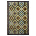 Prater Mills Indoor/Outdoor Blue/ Brown Reversible Rug