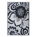 Prater Mills Indoor/ Outdoor Reversible Black/ Cream Rug