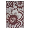 Prater Mills Indoor/ Outdoor Reversible Cranberry Red/ Cream Rug