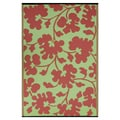 Prater Mills Indoor/Outdoor Reversible Scarlet Red/ Green Rug