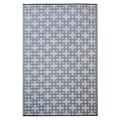 Prater Mills Indoor/ Outdoor Reversible Blue/ Taupe Rug