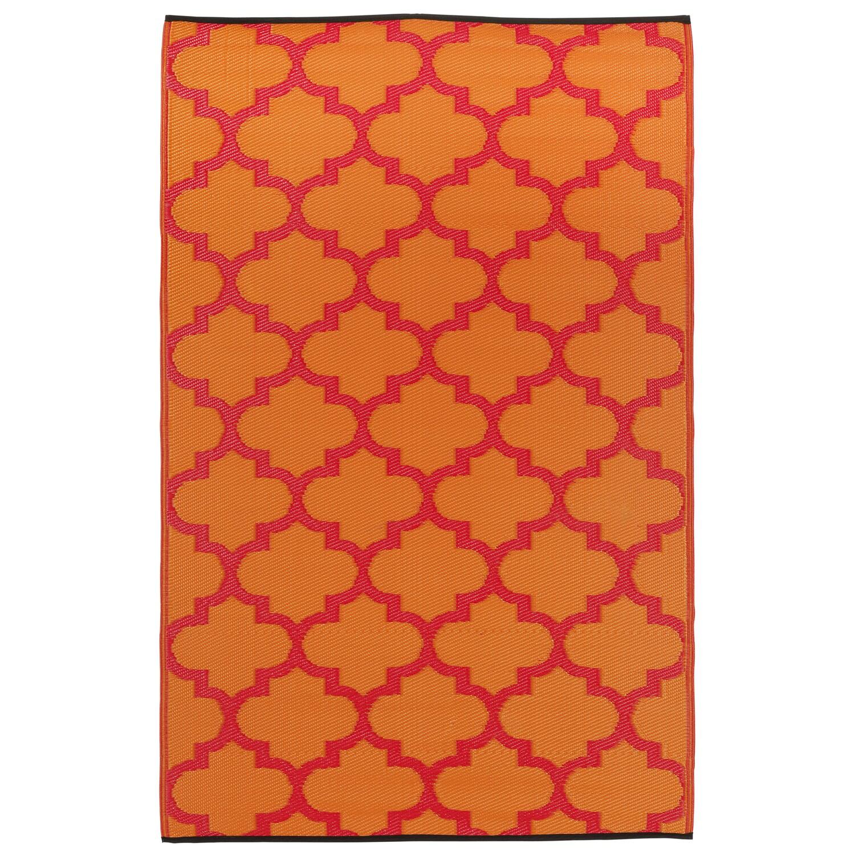 Overstock.com Prater Mills Indoor/ Outdoor Reversible Orange/ Red Rug at Sears.com