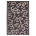 Prater Mills Indoor/ Outdoor Reversible Chocolate Brown/ Tan Rug