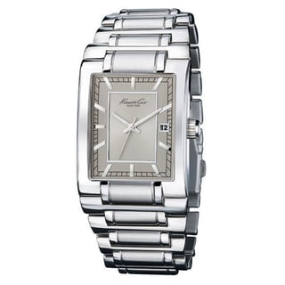 Kenneth Cole Men's Reaction Silver Stainless Steel and Grey Dial Watch