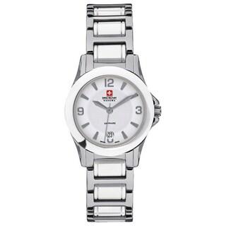 Swiss Military Hanowa Women's 'Eleganza Lady' Silver Steel Quartz Watch
