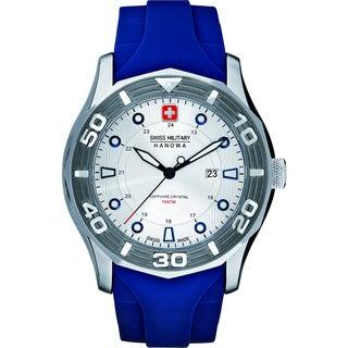 Swiss Military Hanowa Men's 'Oceanic' Blue Rubber Quartz Watch