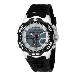 Freestyle Men's 'Shark X 2.0' Black Polyurethane Quartz Watch