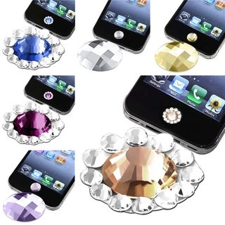 BasAcc Diamond Home Button Sticker for Apple� iPhone 3/ 4 (Pack of 6)