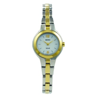 Seiko Women's Solar Two-tone Stainless Steel Watch