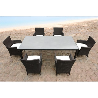 Outdoor Wicker 7-Piece Garden and Patio Dining Table Set