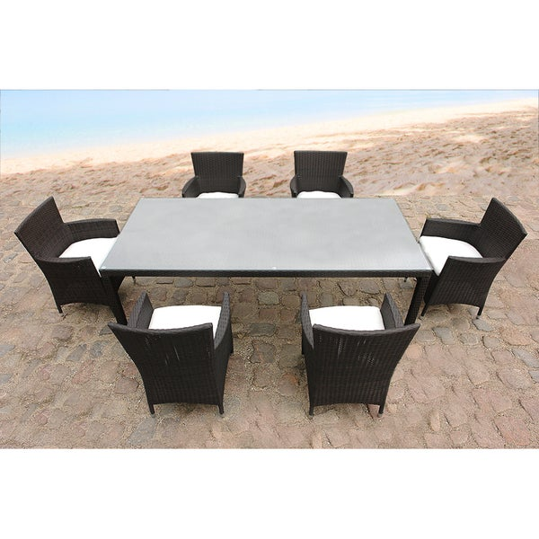 Outdoor Wicker 7 Piece Garden And Patio Dining Table Set 15122735