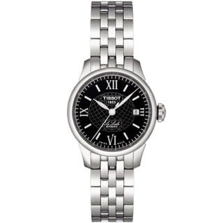 Tissot Women's 'Le Locle' Steel Black Dial Automatic Watch