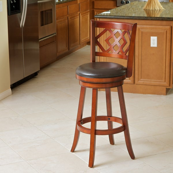 Eclipse Brown Swivel Barstool