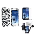 BasAcc Case/ Screen Protector/ Car Mount for Samsung Galaxy S III/ S3