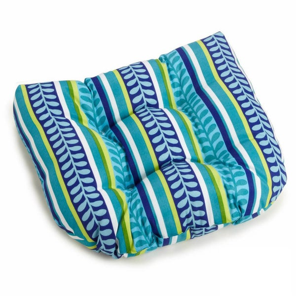 Blazing Needles Outdoor Poly Chair Cushion