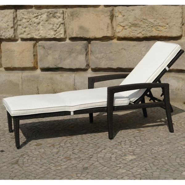 Perugia Outdoor Adjustable Resin Wicker Lounge Chair