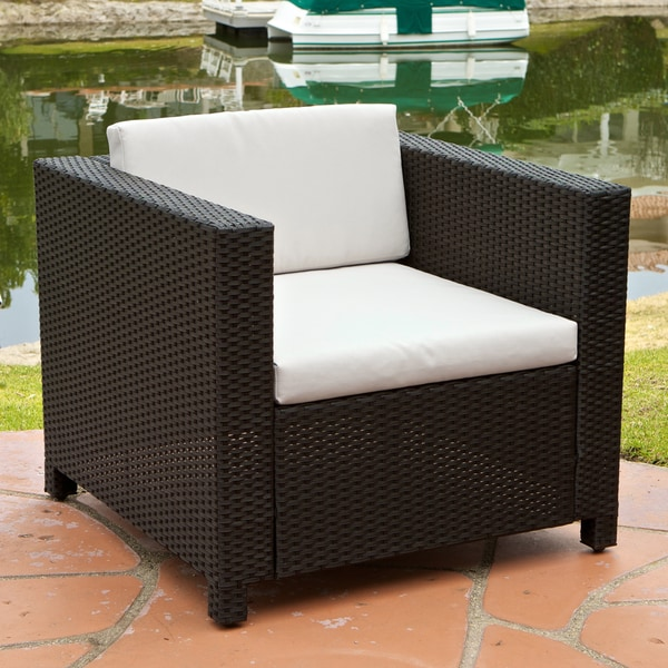 Bahamas Outdoor Club Chair with Ivory Cushions