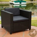 Bahamas Outdoor Club Chair with Black Cushions