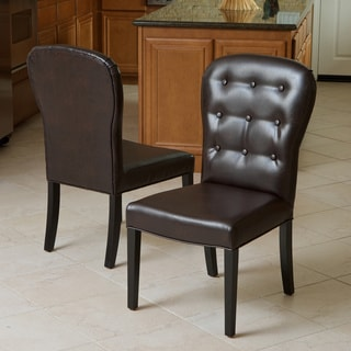 Catherine Tufted Leather Dining Chairs (Set of 2)
