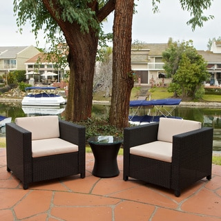 Bahamas Outdoor Club Chairs with Tan Cushions (Set of 2)