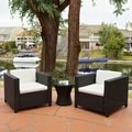 Bahamas Outdoor Club Chairs with Ivory Cushions (Set of 2)