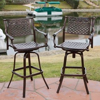 Christopher Knight Home Sebastian Cast Aluminum Barstool (Set of 2)
