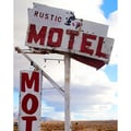 Art in Style Vintage Rustic Motel Sign Giclee Canvas Wall Art