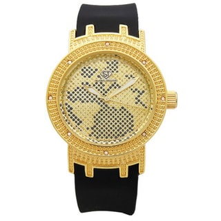 Joe Rodeo Women's 'Super Techno' Goldtone Diamond-accented Watch