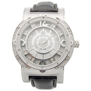 Joe Rodeo Men's 'Super Techno' Diamond-accented Watch