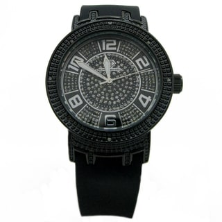 Joe Rodeo Women's 'Super Techno' Black Diamond-accented Watch