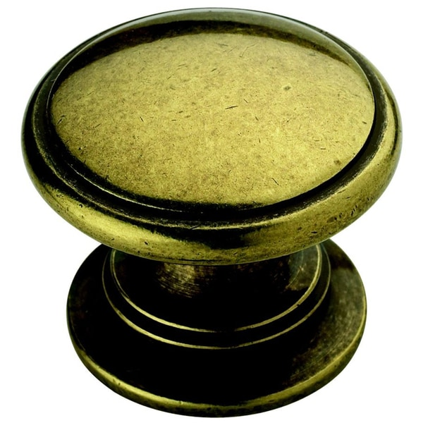 Amerock Traditional Burnished Brass Cabinet Knob (Set of 5)