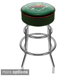 Officially Licensed NHL Padded Bar Stool with Double-Rung Base